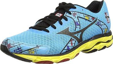 Mizuno W Wave Inspire 10 - Zapatillas running para mujer, Azul (aquarius/black/aurora), EU 42 (US 10.5): Amazon.es: Zapatos y complementos