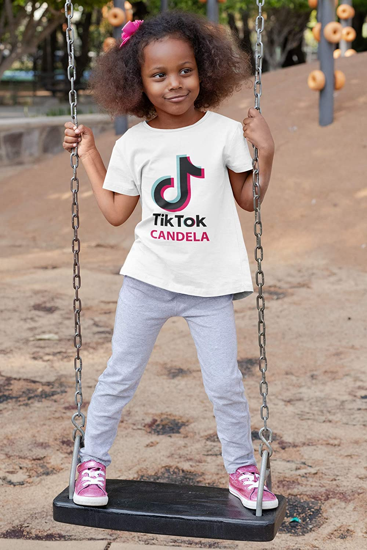 Camiseta TIK TOK Personalizada t/écnica Blanca 100/% poli/éster