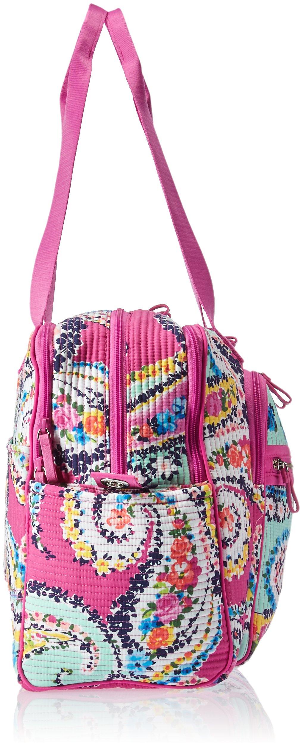 Vera Bradley Iconic Deluxe Weekender Travel Bag, Signature Cotton by Vera Bradley (Image #3)