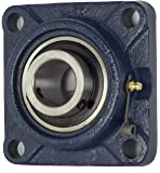 1 PIECE- UCF201-8 Pillow Block Bearing 1/2 inch Size Bore, 4-Bolt Flange, Solid Base, Self-Alignment
