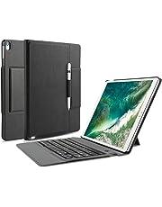 OMOTON Custodia con Tastiera Bluetooth Compatibile con Nuovo iPad Air 10.5(2019)/iPad Pro 10.5 - 2 in 1 Tastiera Wireless Bluetooth in Pelle - Ultra-Sottile e Elegante - Nero
