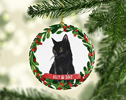cheyan cat ornament pet gift cat christmas ornament black cat ornament black cat christmas ornament cat