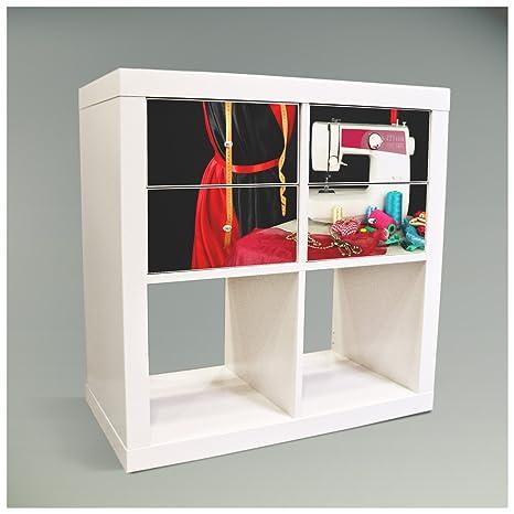 Adhesivos decorativos para muebles caja plegable para mueble IKEA EXPEDIT (Kallax) estantería 67,