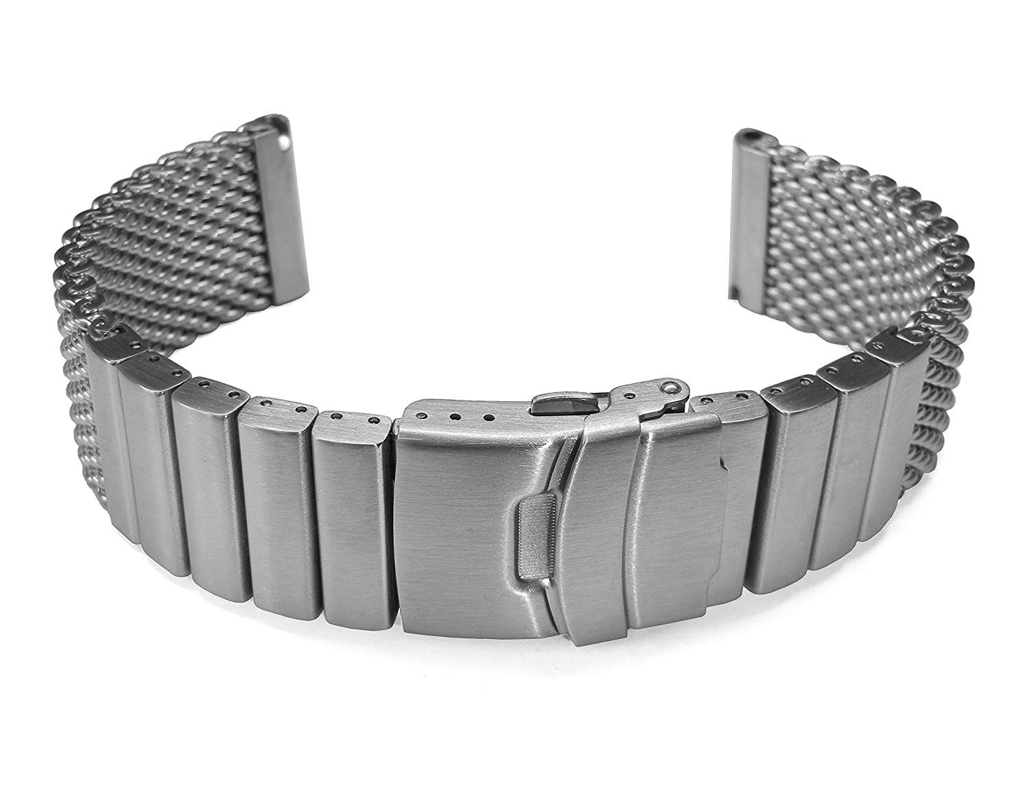 Amazon.com: 22mm TIMEWHEEL Heavy Stainless Steel Wire Mesh Bracelet ...