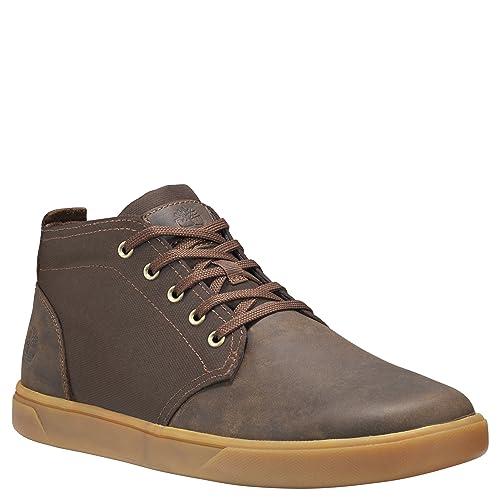 Timberland Men/'s Groveton  Leather /& Fabric Sneake