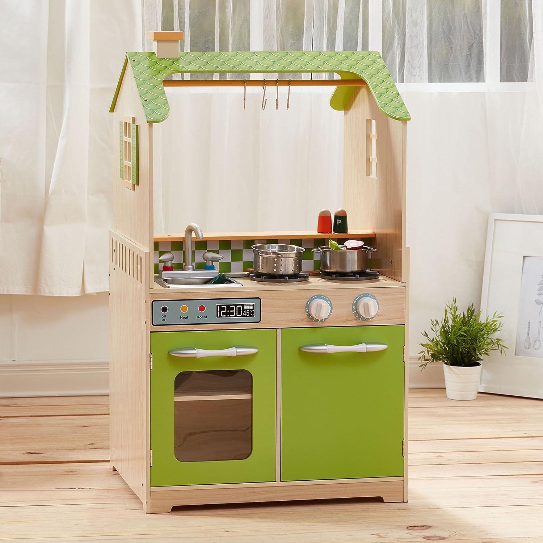 Teamson Kids td-11465 a Play Doppelseitig Küche: Amazon.de: Spielzeug