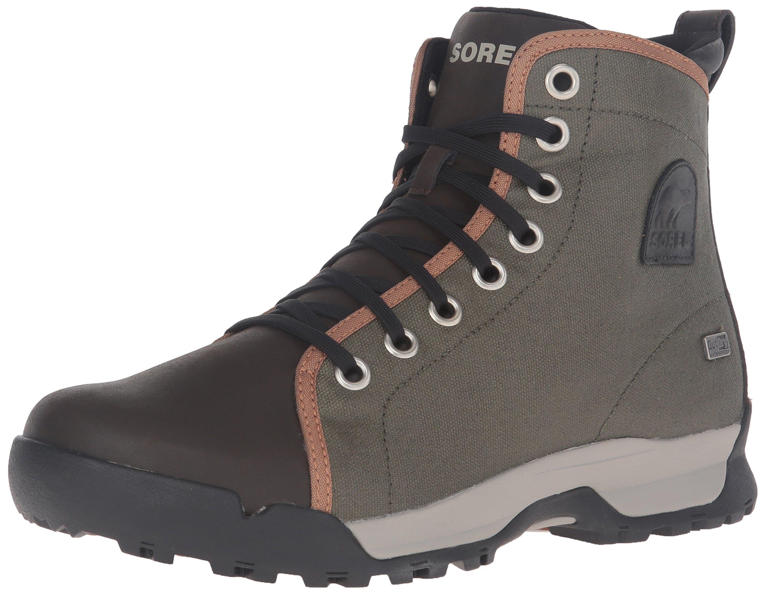 Sorel Men's Paxson 64 Outdry Snow Boot, Nori, Elk, 12 D US