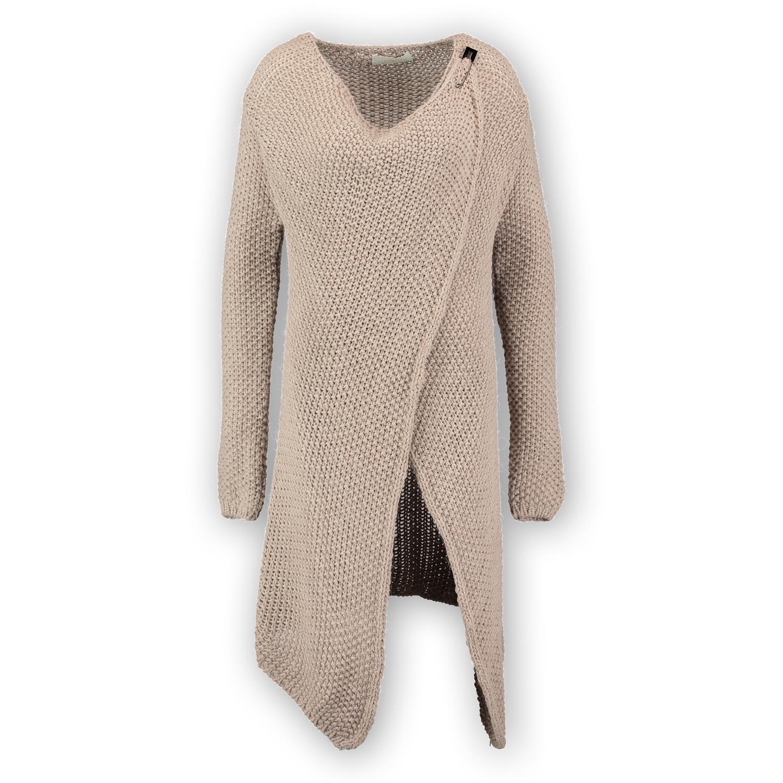 H4F Damen Strickjacke Wrap Cardigan Mantel One Size 38 40