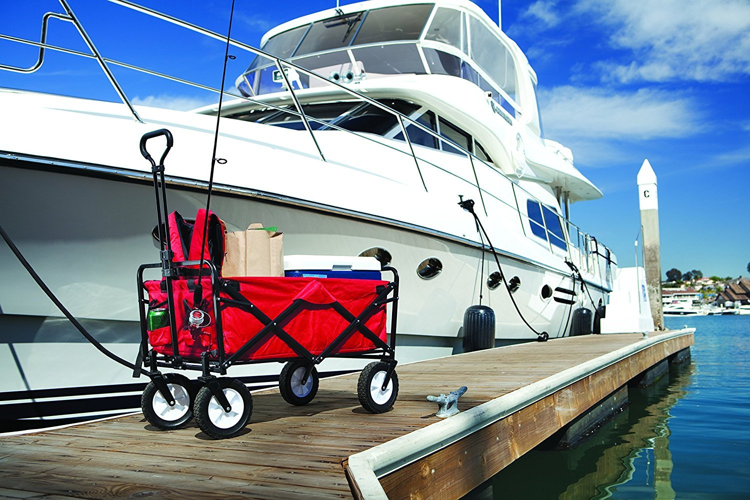 Red Meda 40848 Outdoor Utility Wagon Cart