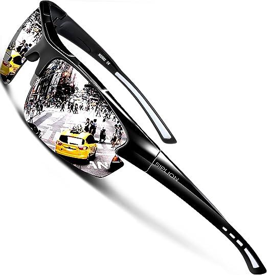 f79bb0e3f79c43 SIPLION Homme Sport Lunettes De Soleil Polarisé Protection UV400 Super  léger Cadre 502 silver