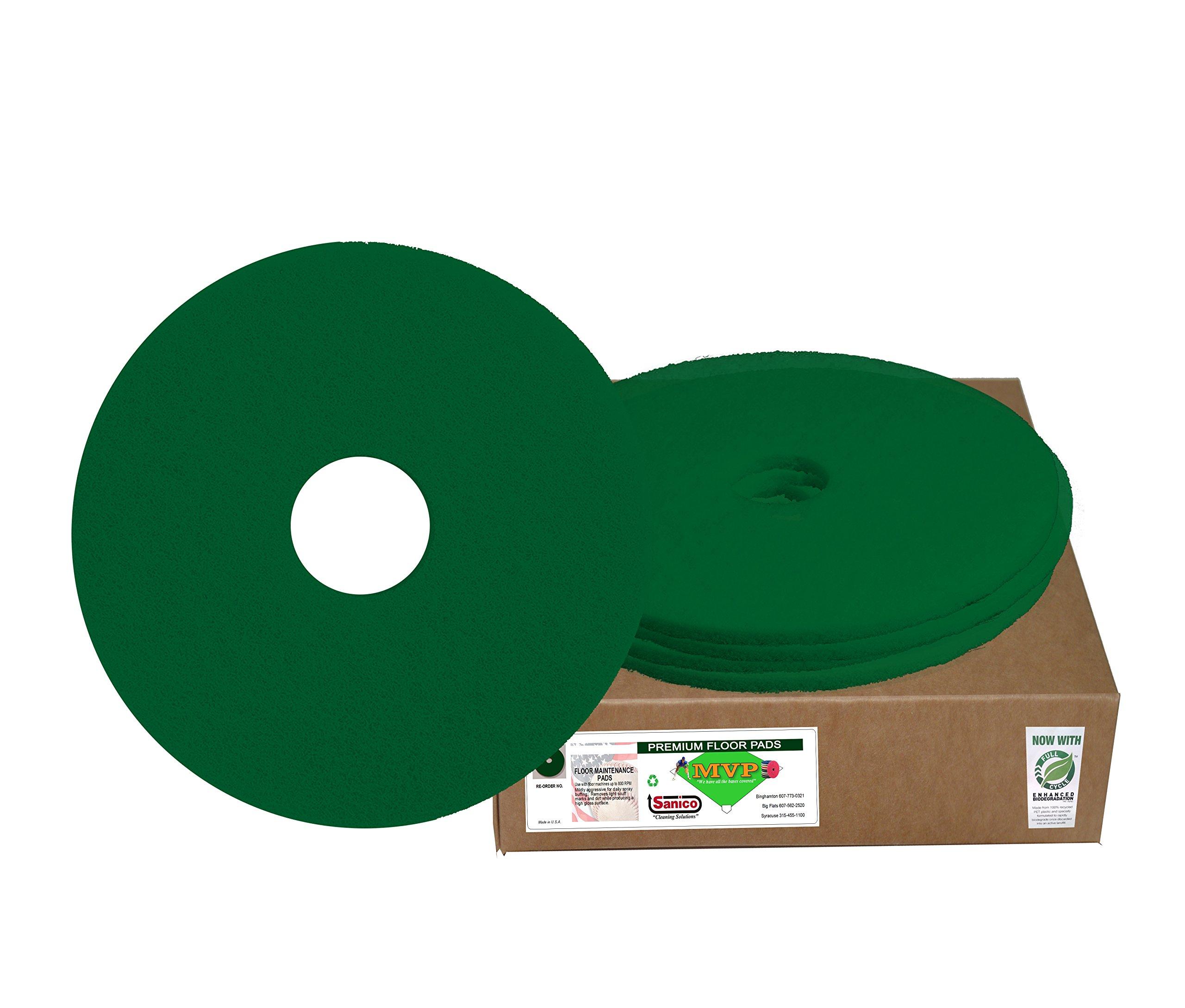 Sanico MVP Green Monster 20'' Green Scrubbing Floor Pad Deep Cleaning (5 per case) -(1 CASE)