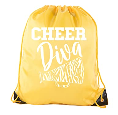 17e5bfcbb2 Image Unavailable. Image not available for. Color: Cheer Bags, Pom Pom and Cheerleader  drawstring Backpacks, Cheerleader Team bags