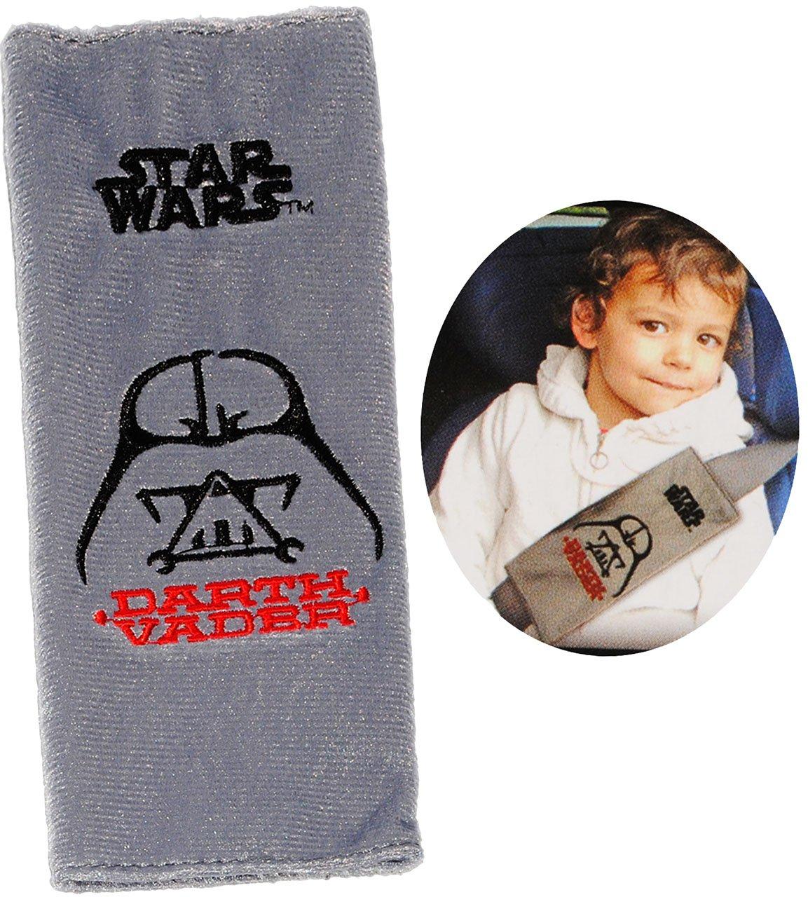 alles-meine.de GmbH Gurtschoner / Gurtpolster - Star Wars - Darth Vader - incl. Name - Gurtschutz - für Sicherheitsgurt als Gurt Polster - für Auto / Kindersitz - Schoner AUT..
