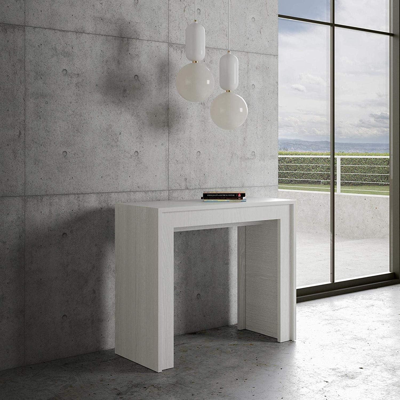 Itamoby - Consola extensible Mia blanca fresno – 5 extensiones ...