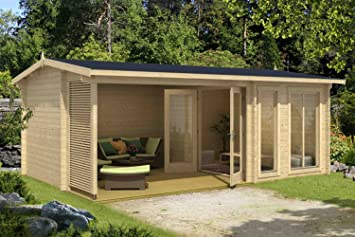 Fußboden Terrasse ~ Gartenhaus g168 inkl. fußboden und terrasse 44 mm blockbohlenhaus