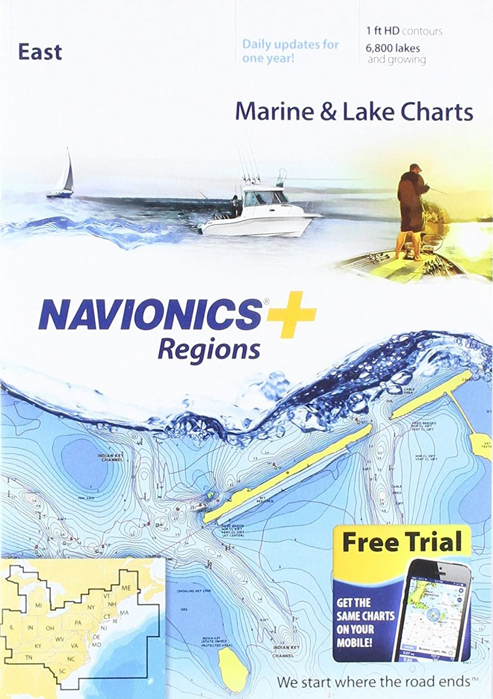 Amazon Navionics Plus Regions East Marine And Lake Charts On Sd