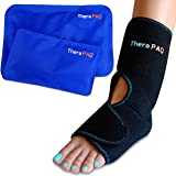 Foot & Ankle Ice Pack Wrap with 2 Hot/Cold Gel Packs by TheraPAQ | Foot Pain Relief for Achilles Tendon Injuries…