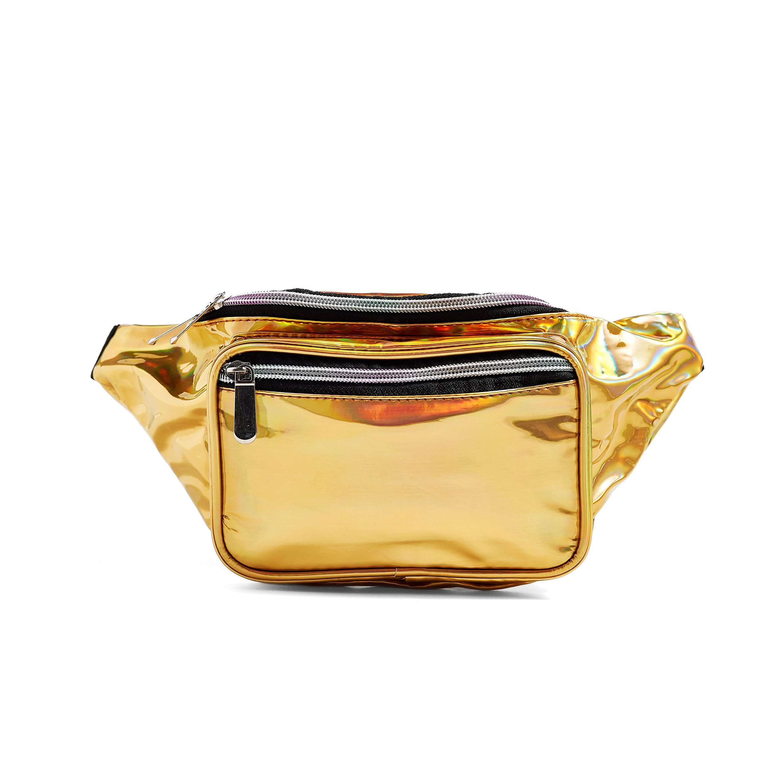 C.T.Soarsky Fanny Pack - Galaxy, Rave, Festival, Holographic Gold