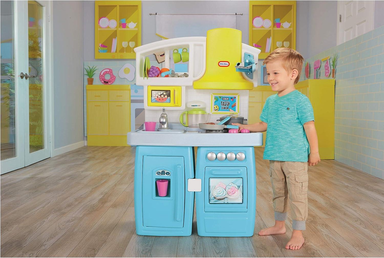 Amazon Com Little Tikes Tasty Jr Bake N Share Kitchen Role Play Kitchen Activity Set Toys Games