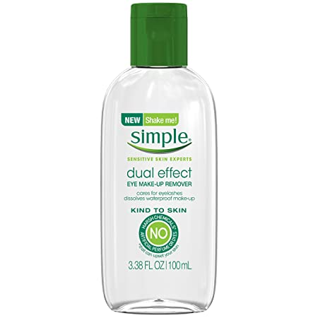 Simple Kind to Skin Eye Makeup Remover, Dual Effect 3.38 oz Pack of 12