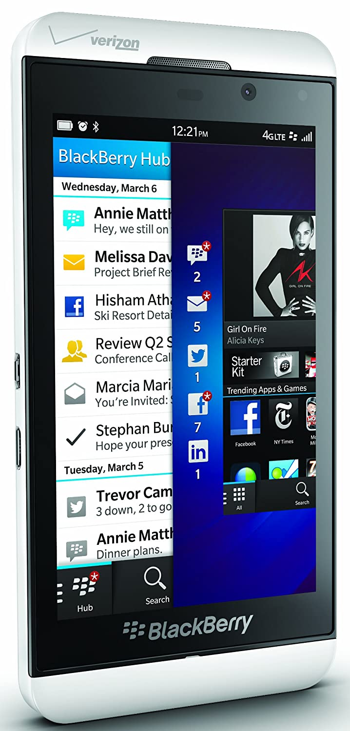 Amazon.com: BlackBerry Z10, White 16GB (Verizon Wireless): Cell Phones &  Accessories