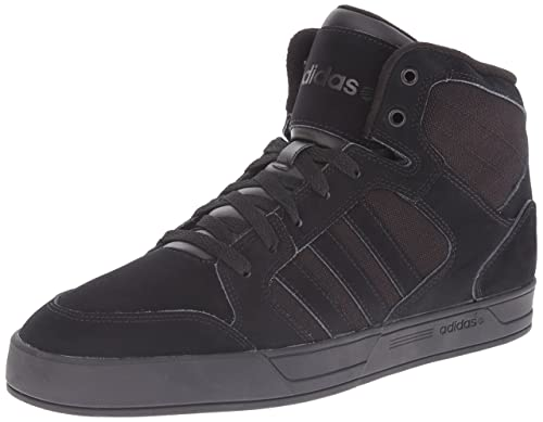 adidas NEO Men's Raleigh Mid Lace Up Shoe,Black/Black/Black,6.5