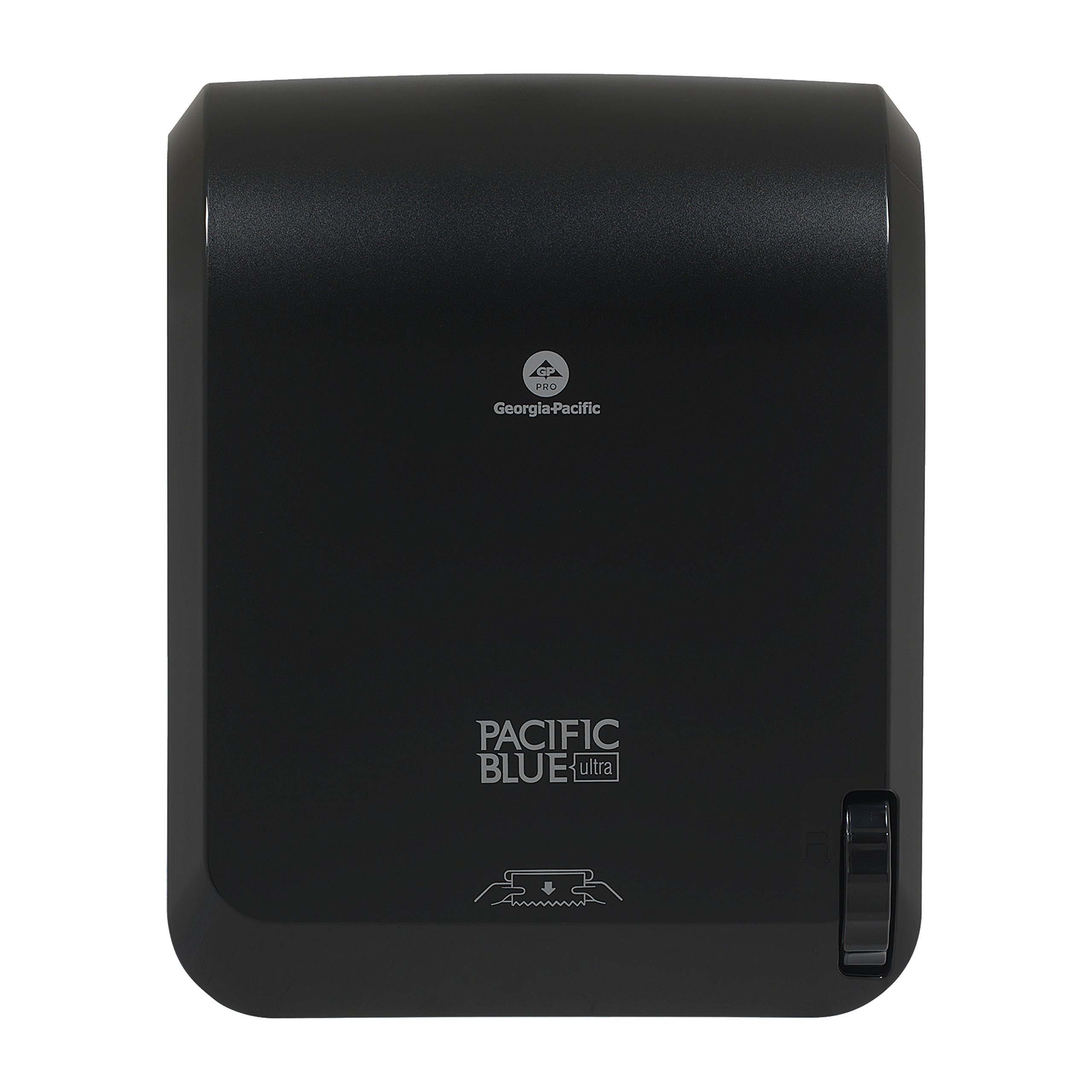 "Pacific Blue Ultra Mechanical Paper Towel Dispenser by Georgia-Pacific, Black, 59589, 12.9"" W x 9.3"" D by 16.7"" H"