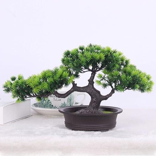 Artificial Plants Bonsai Welcoming Pine Tree Pot Desk Display Simulation  Fake Tree Ornaments Mini Bonsai Tree Pot Plants Vivid Potted Artificial  House ...