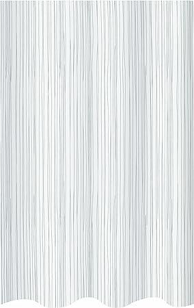 Spirella 180 x 200 Marr/ón Cortina de Ducha Textil Multicolor 100/% Polyester colecci/ón Raya poli/éster