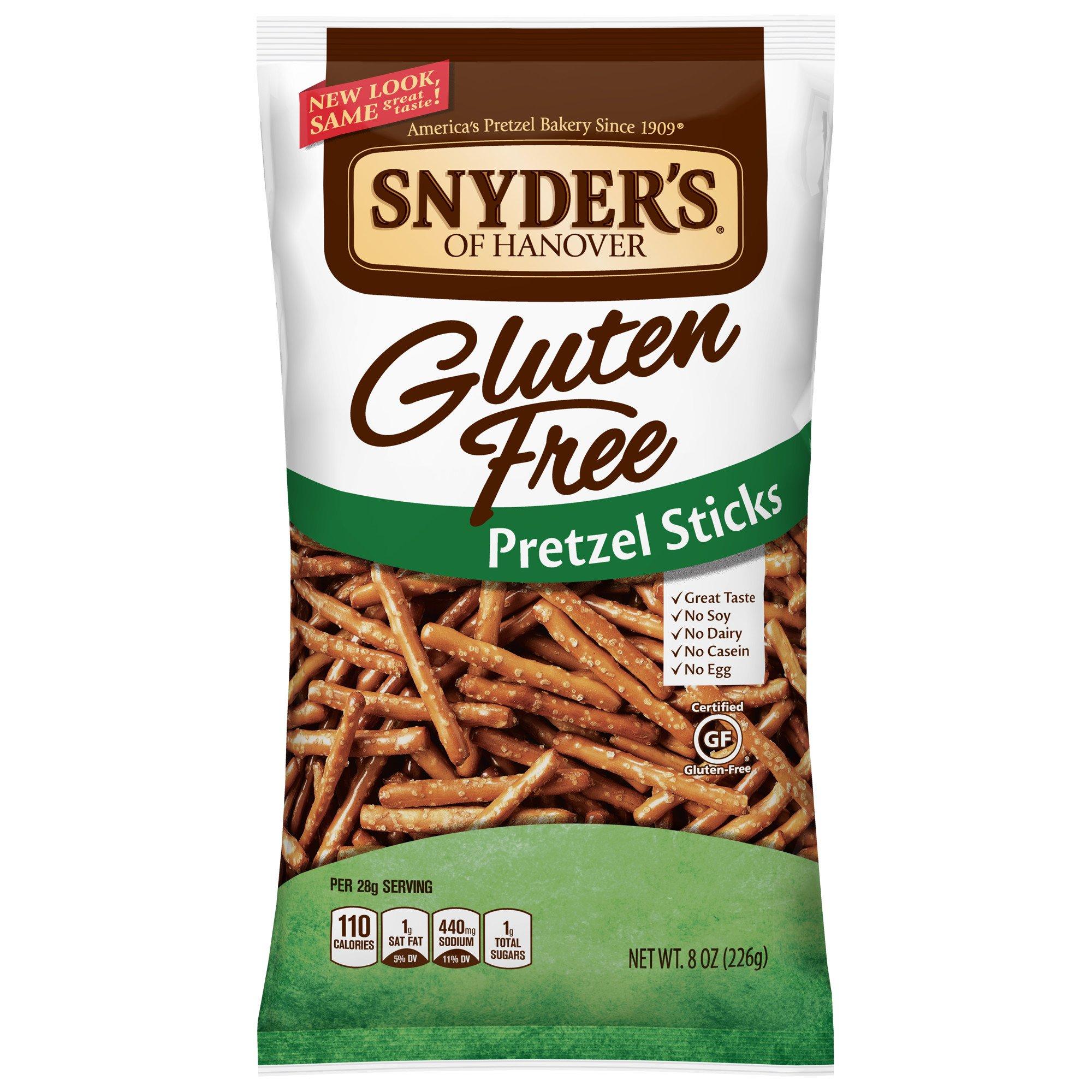 Snyder's of Hanover Gluten Free Pretzel Sticks, 8 Ounce (Pack of 12) by Snyder's of Hanover