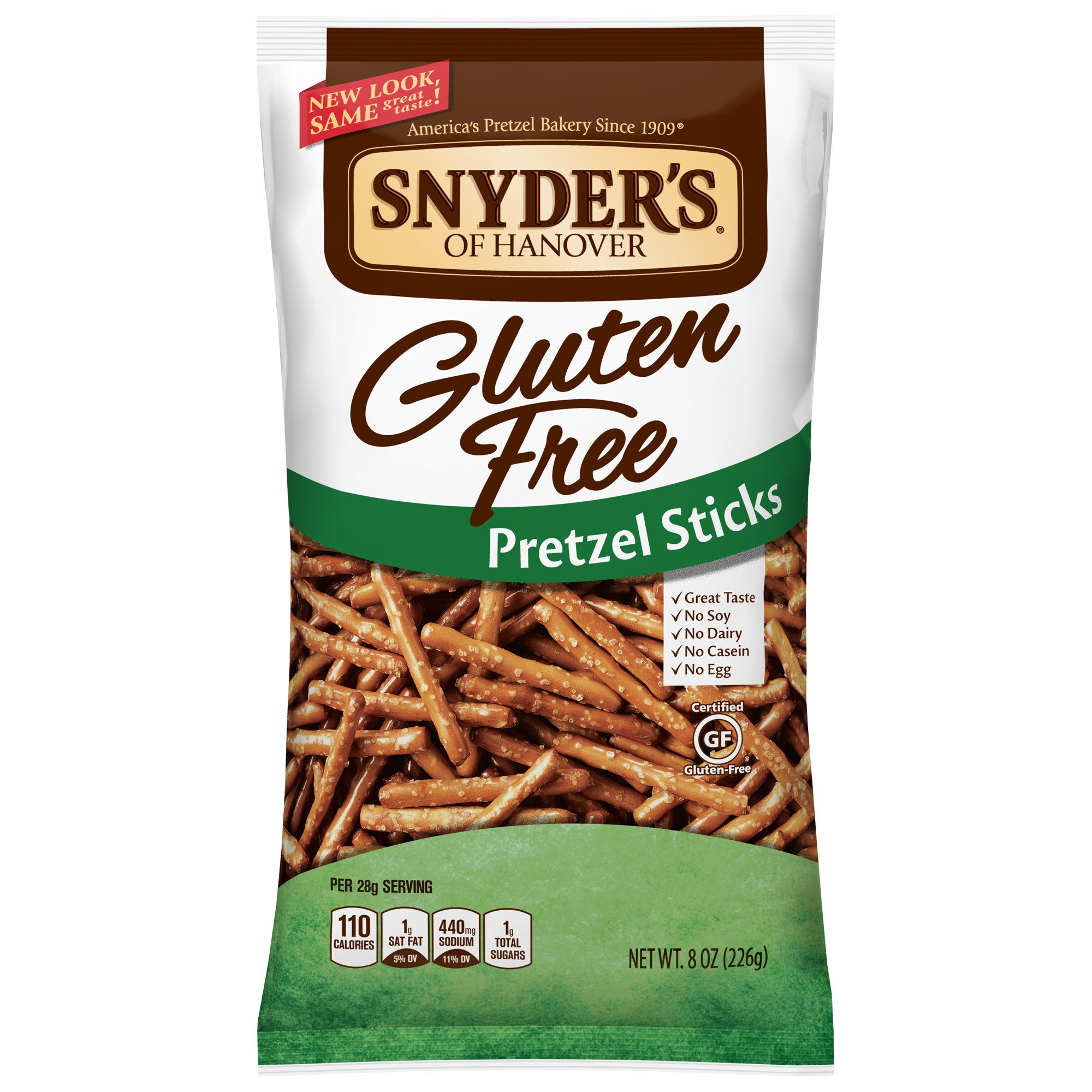 Snyder's of Hanover Gluten Free Pretzel Sticks, 8 Ounce (Pack of 12) by Snyder's of Hanover (Image #1)