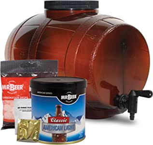 Mr. Beer Edition Homebrewing Craft Making Kit with All Grain Extract Beer Refill and Convenient 2 Gallon Fermenter
