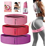 VICENTE Booty Bands - Resistance Bands for Legs and Butt - 3 Different Strengths Non Slip Fabric Exercise Bands - Hip…