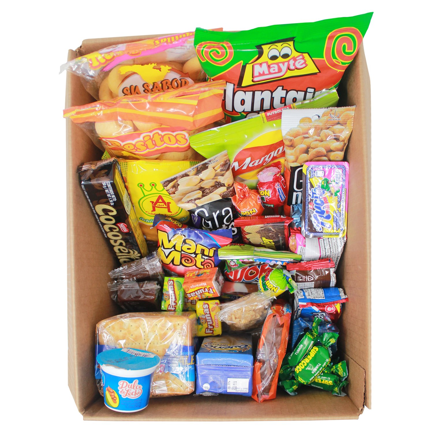 Colombian Snacks Sampler Box | Mecato Colombiano | Cookies, Chips & Candies Variety Pack | Snack Assortment Delight | 40 count / 25 different items | Weird ...