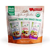 Nature's Garden Organic Trail Mix Snack Packs, Multi Pack 1.2 oz - Pack of 24 (Total...