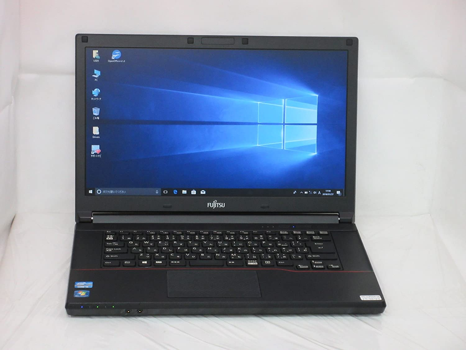 【中古】 富士通 LIFEBOOK A743/G ノートパソコン Core i5 3340M 2.7GHz メモリ4GB 128GBSSD DVD-ROM Windows10 Professional 64bit FMVA02008   B079FP2CZ7