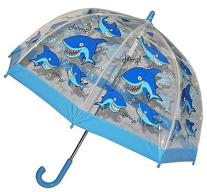 Unbekannt Tiburón – Niños paraguas transparente Diámetro 70 cm – Niños Stock pantalla – para chica