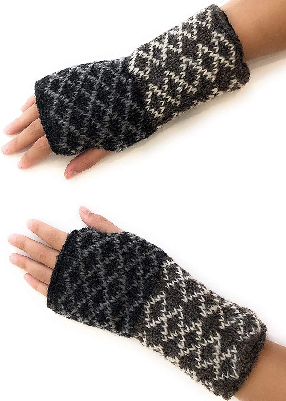 Hand Knit Fingerless...
