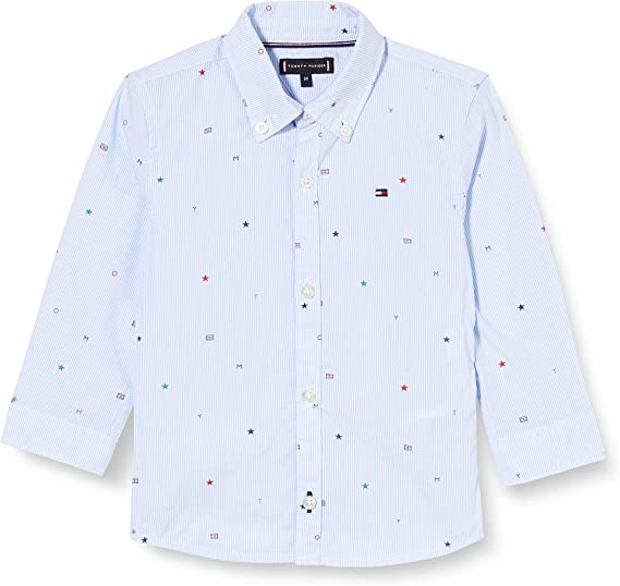 Tommy Hilfiger Tommy AOP Shirt L/S Camisa para Niños: Amazon ...