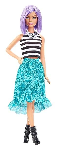 Barbie Fashionistas - Muñeca, peinado morado (Mattel DGY59): Amazon.es: Juguetes y juegos
