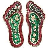 Jaipuri haat Goddess Laxmi Feet In Superior Quality Metal Gift Item in Pair