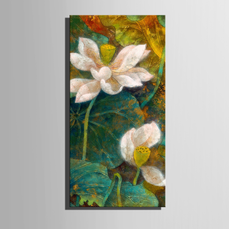 TT&ZHUANGSHI Frameless Malerei, gestreckte Leinwand Kunst spektakuläre spektakuläre spektakuläre Lotus Dekoration Malerei, 30  60  1 B0785MXP1X | Outlet Store Online  | Moderne und stilvolle Mode  | Beliebte Empfehlung  29804e