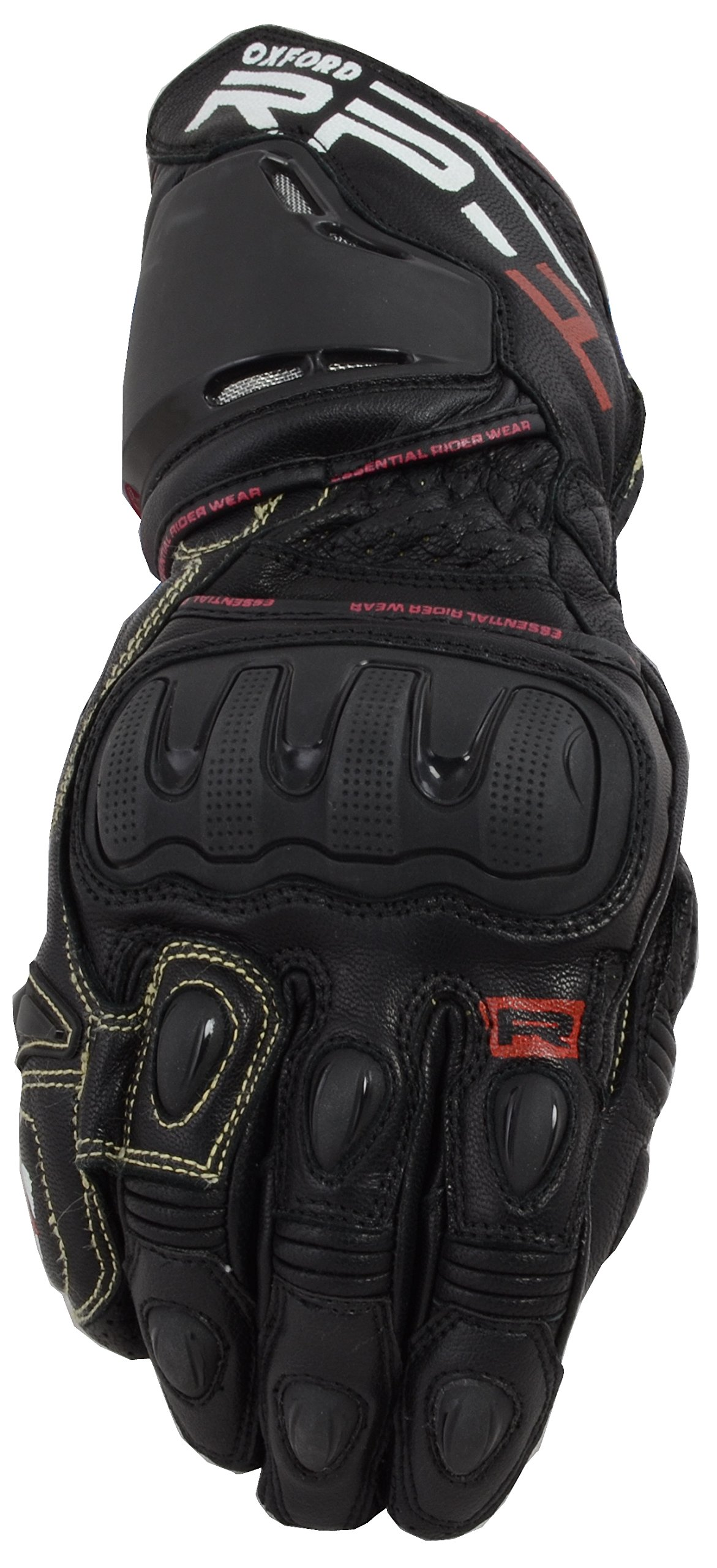 Oxford Unisex-Adult RP-1 Leather Race Gloves (Tech Black, Small)