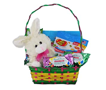 Amazon beautiful sugar free easter candy gift basket with beautiful sugar free easter candy gift basket with chocolate bunny rabbit plush negle Gallery