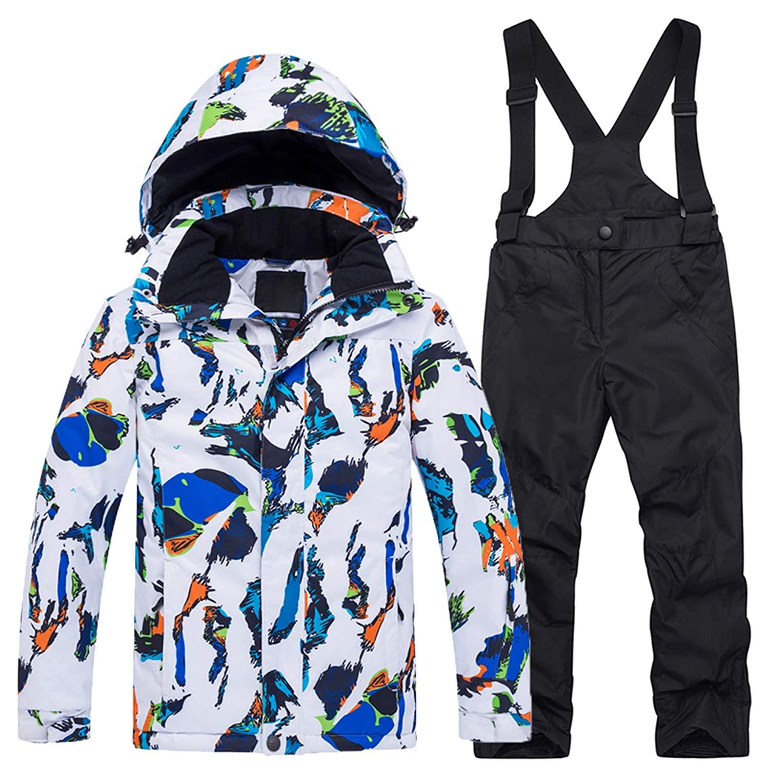 PENER Boys Thick Warm Ski Jackets and Pants Windproof Waterproof Snowsuit Set