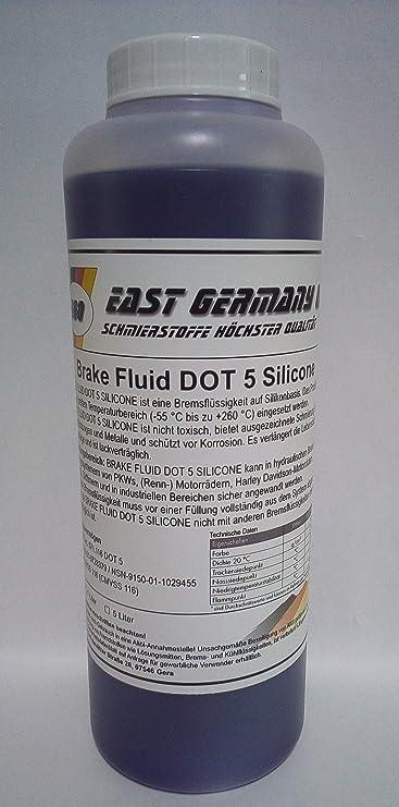 East Germany Oil Silicone Brake Fluid Dot 5 Silicone Break Fluid Bottle 1 Litre Auto