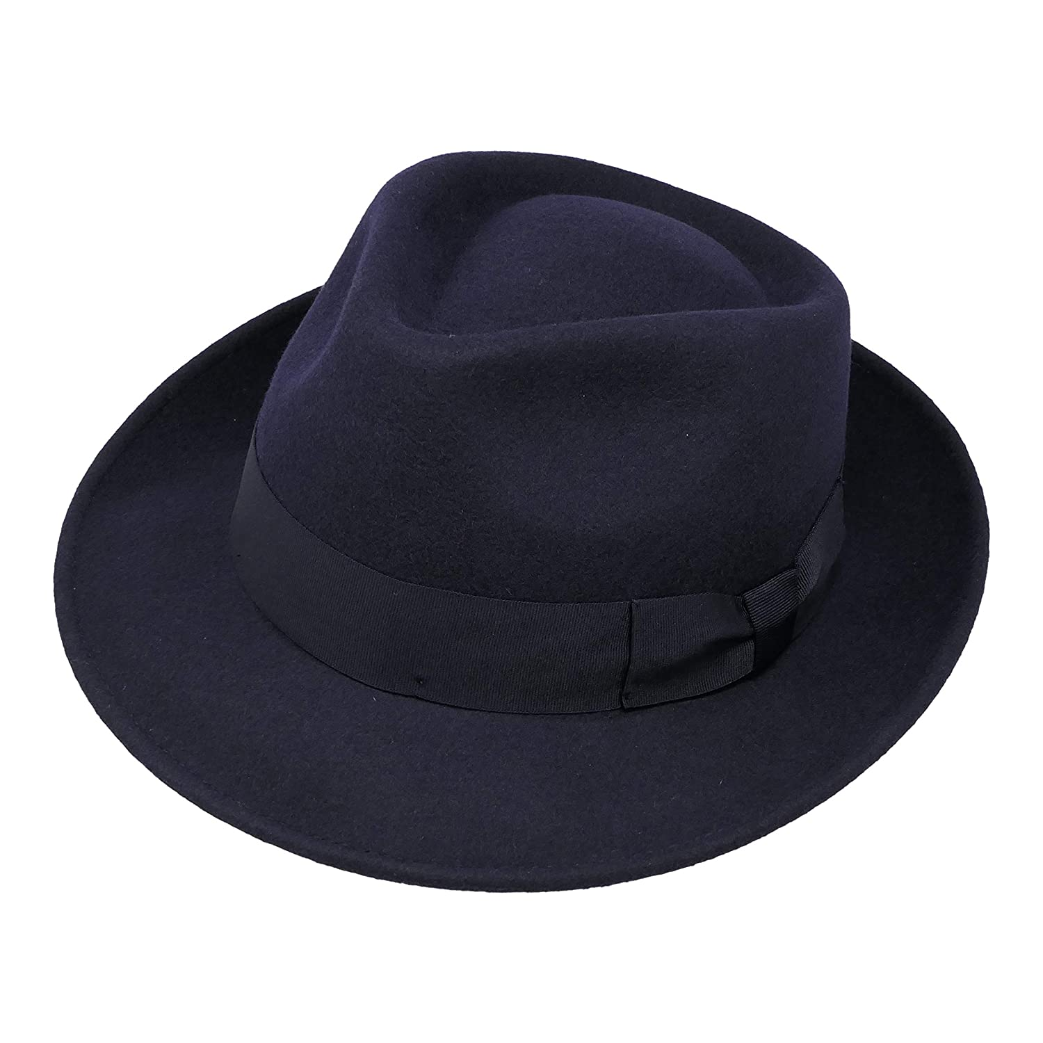 Teardrop Fedora Hat 100/% Alpaca Wool Felt Premium Doyle Water Resistant Crushable for Travel Unisex