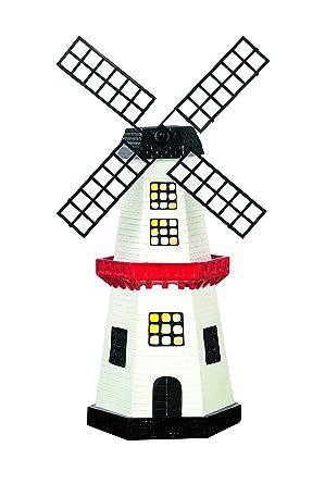 EASYmaxx 09387 Solar-Windmühle | kabellos, bis zu 8 Std. Leuchtdauer, Tageslichtsensor | für Innen und Aussen