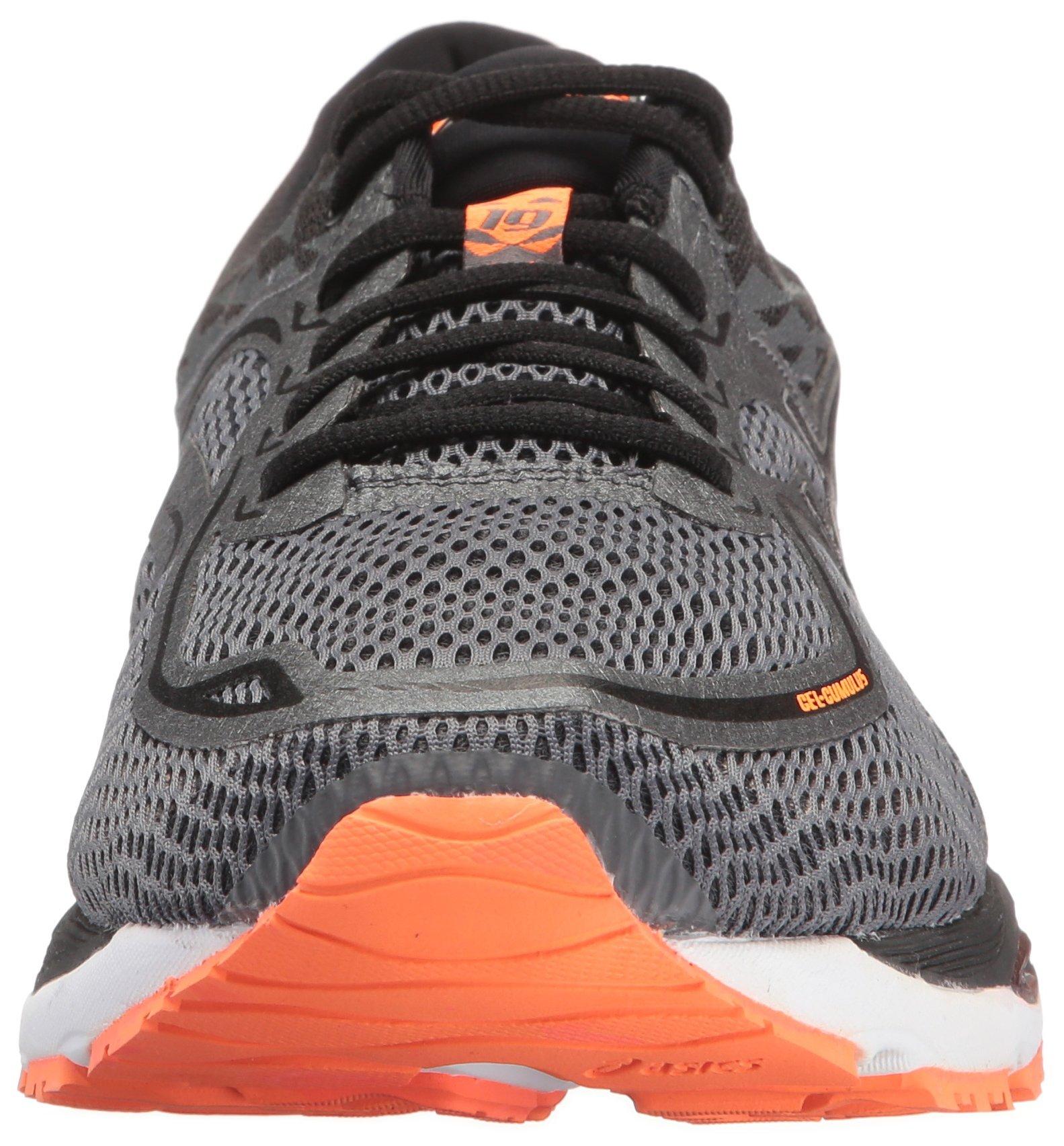 ASICS Mens Gel-Cumulus 19 Running Shoe, Carbon/Black/Hot Orange, 6.5 Medium US by ASICS (Image #4)