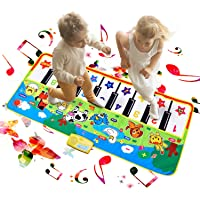Reditmo Music Piano Mat for Kids, Musical Keyboard Play Mat, Educational Toys with Small Animal Calls, Collapsible, Suitable for Children/ Baby/ Toddlers/ Little Boy Girl
